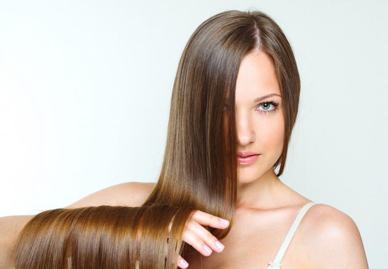 Glanzende haare vitamine