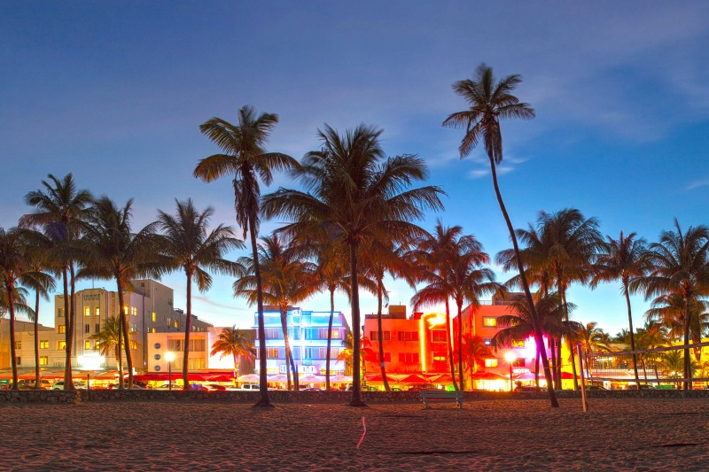 5x doen langs Ocean Drive in Miami Beach